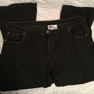 Diane Gilman Plus Size Jeans, dark wash, 24W